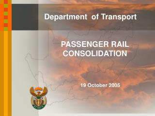 PASSENGER RAIL CONSOLIDATION
