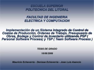 ESCUELA SUPERIOR  POLITECNICA DEL LITORAL FACULTAD DE INGENIERIA ELECTRICA Y COMPUTACION