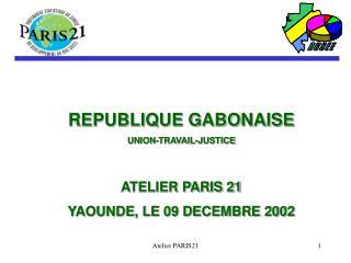 REPUBLIQUE GABONAISE UNION-TRAVAIL-JUSTICE ATELIER PARIS 21 YAOUNDE, LE 09 DECEMBRE 2002