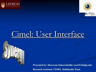 Cimel: User Interface