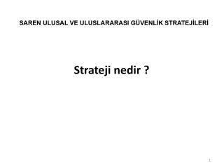 Strateji nedir ?
