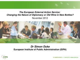 The European External Action Service: