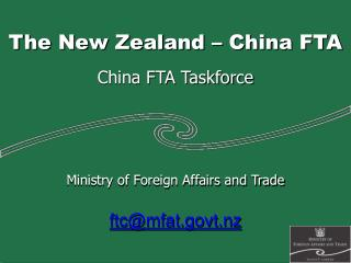 The New Zealand – China FTA