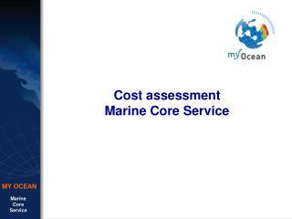 Cost assessment Marine Core Service