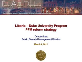Liberia – Duke University Program PFM reform strategy