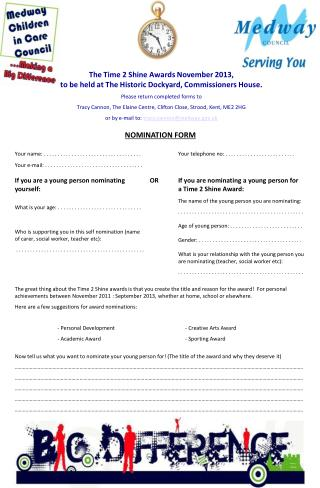 NOMINATION FORM