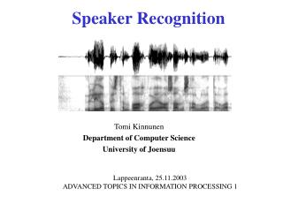 Speaker Recognition