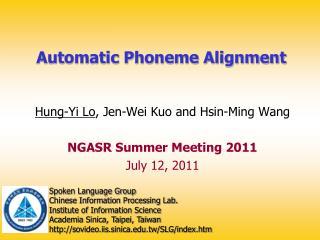 Automatic Phoneme Alignment