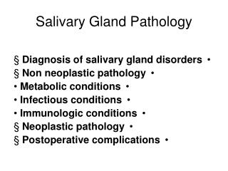 Salivary Gland Pathology