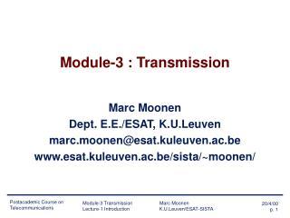 Module-3 : Transmission