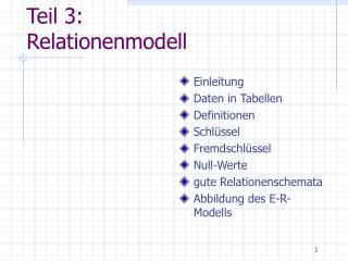 Teil 3: Relationenmodell