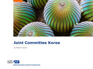 Joint Committee Korea 31 March 2014