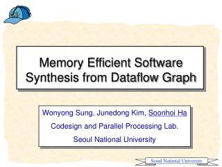 Memory Efficient Software Synthesis from Dataflow Graph