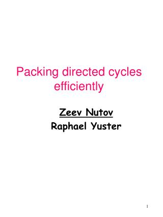 Packing directed cycles efficiently