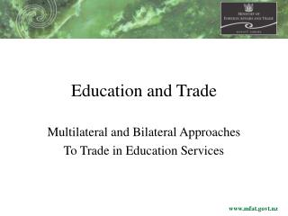 Education and Trade