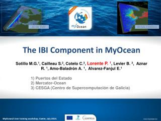 The IBI Component in MyOcean