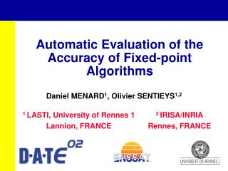 Automatic Evaluation of the Accuracy of Fixed-point Algorithms