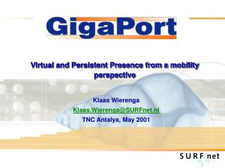 Virtual and Persistent Presence from a mobility perspective