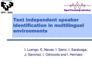 Text independent speaker identification in multilingual environments