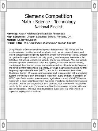 Name(s):   Akash Krishnan and Matthew Fernandez