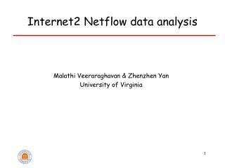 Internet2 Netflow data analysis