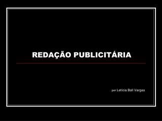 REDAÇÃO PUBLICITÁRIA