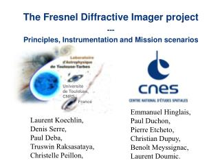 The Fresnel Diffractive Imager project --- Principles, Instrumentation and Mission scenarios