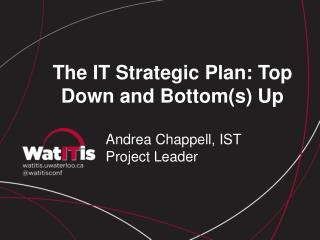 The IT Strategic Plan: Top Down and Bottom(s) Up