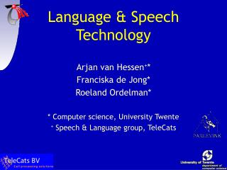 Language & Speech Technology