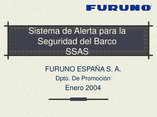 Sistema de Alerta para la Seguridad del Barco SSAS