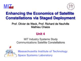Enhancing the Economics of Satellite  Constellations via Staged Deployment