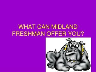 WHAT CAN MIDLAND FRESHMAN OFFER YOU?