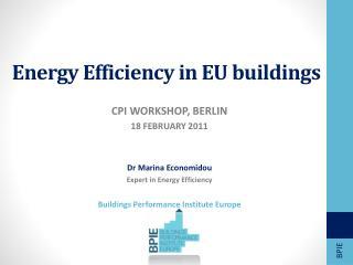 Energy Efficiency in EU buildings