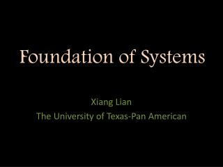 Foundation of Systems