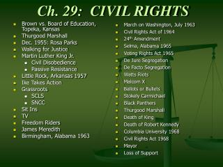 Ch. 29:  CIVIL RIGHTS
