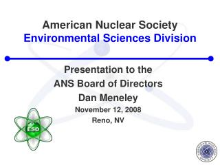 American Nuclear Society Environmental Sciences Division