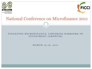 National Conference on Microfinance 2011