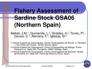 Fishery Assessment of Sardine Stock GSA06 (Northern Spain)