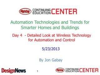 Automation Technologies and Trends for Smarter Homes and Buildings