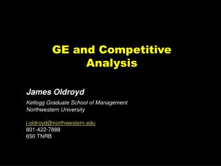 GE and Competitive Analysis