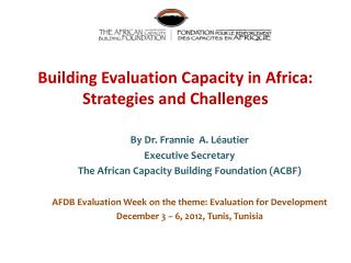 Building Evaluation Capacity in Africa: Strategies and Challenges