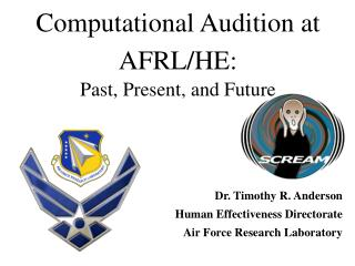 Computational Audition at AFRL/HE: Past, Present, and Future