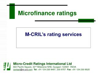 Microfinance ratings