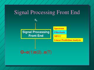 Signal Processing Front End