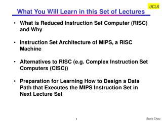 What You Will Learn in this Set of Lectures
