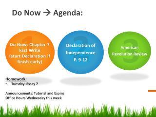 Do Now    Agenda: