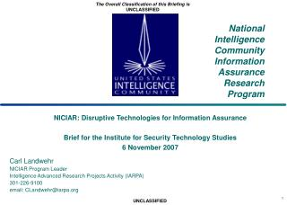 National Intelligence Community Information Assurance Research Program