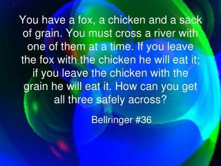 Bellringer #36