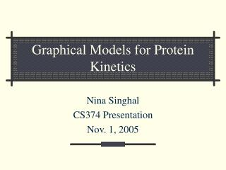 Graphical Models for Protein Kinetics