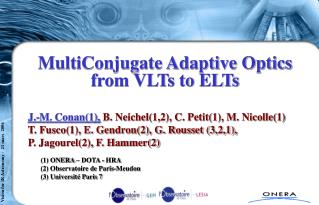 MultiConjugate Adaptive Optics from VLTs to ELTs